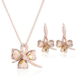 Wholesale Medusa Set - 18K Gold Plated African Beads Crystal Butterflies For Jewelry Sets Medusa Choker Necklace 1pcs can shipping