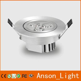 Wholesale Pure Power Down - High Power 1W 3W Round Led Ceiling Down Light 110-240V Pure Warm White Led Recessed Downlight Lamp