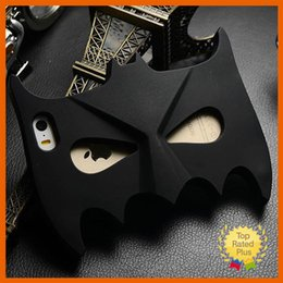 Wholesale Customize Mask - Hot 3D Cute Batman Mask Soft Silicone Phone Case Cover for iphone 5 5S SE 6 6S Plus Samsung S5 S6 A7