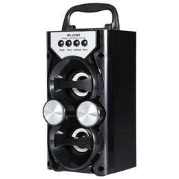radios de control de volumen Rebajas Venta al por mayor portátil de alta potencia de salida FM Radio Altavoz inalámbrico Bluetooth Soporta Tarjeta TF USB Control de volumen Led intermitente Loundspeaker