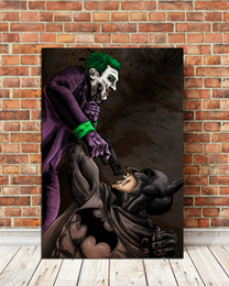 Wholesale Wall Paintings For Home Decoration - HD Printed Marvel & DC Comics Art Oil Painting Home Decoration Wall Art on Canvas Batman VS Joker More Size For Choose