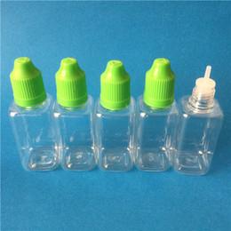 Canada 1000 pcs / lot 30 ml bouteille carrée enfant preuve cap long mince gouttes goutteur ejuice / eliquid bouteille en gros Offre