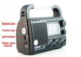 Wholesale Degen Solar Radio - DEGEN DE16 FM FML MW SW hand Crank Dynamo Solar Emergency alarm Radio LED light World Receiver four power supply charge phone