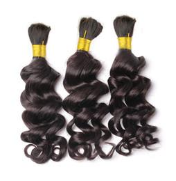 Wholesale Hair For Braiding Micro Braids - Wholesale-Loose Deep Wave Human Braiding Hair Bulk No Weft Crochet Braids with Curly Human Hair for Micro Braids Curly Bulk Braiding Hair