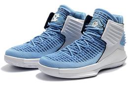 2017 Nueva 32 XXXII Vuelos Velocidad 32 North Carolina Azul Zapatos de Baloncesto Para Hombre Zapatos Deportivos 7-12 desde fabricantes