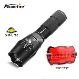 Wholesale T6 Bicycle Flashlight - G700 Tactical Military LED Flashlight 2000 lumen XML t6 E17 5modes zoomable flashlight torches by 18650 or AAA+bicycle light