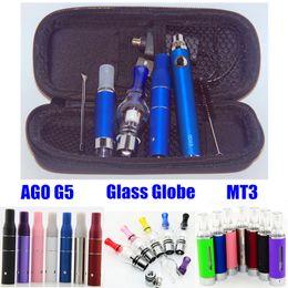 Canada Kits tout en un vaporisateur Glass Globe Wax vaporisateur 3 en 1 kits de cire evod evod mt3 vaper AGO cire vape stylos sec herbe cigarette electrique e cigs Offre