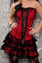 2019 готические корсеты оптом Wholesale-New style red lace corset dress,full body corset,gothic corset dresses M1605 дешево готические корсеты оптом