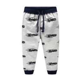Wholesale Children Trousers - Boys pant Cool Cars Sweatpants 100%cotton Terry Casual pants Trousers for kids Draw cord Boutique Children clothing 2017 Autumn winter 2-7T