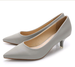 Wholesale Women White Pointy Shoes - 10colors choose Sweet shoes pointy shoes work shoes Fine sexy OL in the nude leather inside light with single shoes bridesmaid wedding shoes