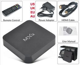 Wholesale Cortex A5 - Original MXQ TV Box Amlogic S805 Quad-Core Cortex-A5 Mali-450 Quad-Core H.265 v15.2 MX MXQ Android TV Google Media Player