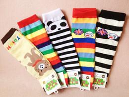Wholesale Cheapest Baby Socks - Cheapest Halloween Christmas Baby Leg Warmer infant colorful Santa leg warmer child socks Legging Tights Baby Skull Leg Warmers