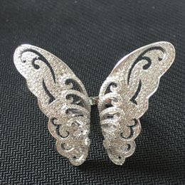 Wholesale China Jewelry Butterfly Ring - 925 Sterling Silver Rings Finger big Butterfly Clear Zircon For Women Ring Wedding Party Birthday Timeless Elegant Fashion Jewelry