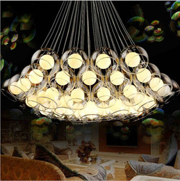 Wholesale Modern art glass chandelier led pendant light for living room bar AC85 V G4 Bulb hanging glass pendant lamp fixtures