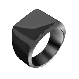 Wholesale Male African Jewelry - S5Q High Quality Male Fashion Simple Atmosphere Titanium Steel Rings Mens Jewelry AAAGBZ