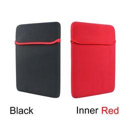 Wholesale Netbook Bag Case - 7 8 9 10 11 12 13 14 15 17 Inch Tablet Netbook Inner Cases Pure Black Inner Red Neoprene Laptop Bag Slim Liner Netbook Pouch Bag