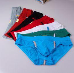 Wholesale Bulge Pouch Underwear Mesh - 2016 Mesh Underwear Penis Hole Calzoncillos Hombre Slips Gay Bulge Mens Sexy Homme WJ Pouch Nylon Briefs