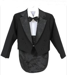 Wholesale Winter Jacket For Boys - Elegant Kid Boy Wedding Suit Boys' Tuxedo Boy Blazers Gentlemen Boys Suits For Weddings (Jacket+Pants+Tie+Girdle+Shirt)