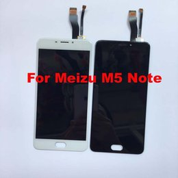 Wholesale Note Lcd Glass - Wholesale- For Meizu M5 Note M621H M621Q M621M M621C Original lcd display screen +digitizer touch screen front glass Assembly flex cable.