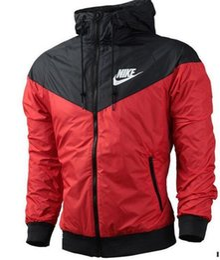 Wholesale Thin Waterproof Fabrics - 2018 New Fall thin windrunner Men Women sportswear high quality waterproof fabric Men sports jacket Fashion zipper hoodie plus size 3XL