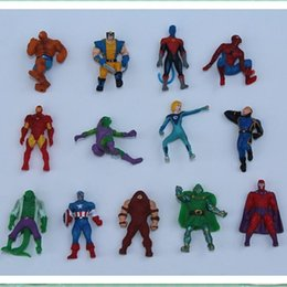 Wholesale Hot Toys Action - 2017 The Avengers Mini Action Figures Gashapon Gachapon Capsule Toys Superhero spiderman Iron captain Hot sale children Christmas Gifts