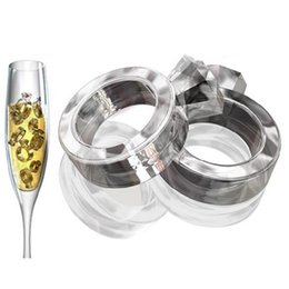 Wholesale Ring Ice Cubes - 2015 Hot Sell Ice Tray Diamond Love Ring Ice Cube Style Freeze Ice Mold Ice Maker Mould