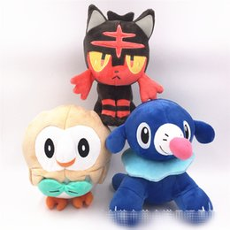 Wholesale Plush Sea - POKE cartoon Wood owl ball spot sea lion cat plush toy Monster sun moon plush toys dolls 18cm XT