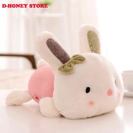 Wholesale Pink Stuffed Bunny - Lovey Bowknot 30cm Rabbit Little Bunny Plush Toys Small Stuffed Animals Wedding Gift For Girls Kids bunny