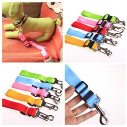 Wholesale Seat Pets Car - D16 New arrival dog Car seat belt pet dog seat belt dog Car Safety Belts adjustable dog leashes free shipping