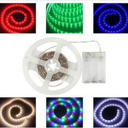 Wholesale Led Diode Cool White - Waterproof led strip rgb smd 5050 Flexible Lights 5V Battery powered LED Lighting led tape light Diode Tape tv Mood Light