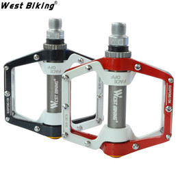 "Wholesale Aluminum Foot Peg - WEST BIKING Original US Brand Cycling Pedal Dead Fly BMX Light Bicycle Pedals 9 16"" Foot Pegs Outdoor Sport DH 0.46Kg pair Crank"