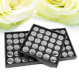 Wholesale 25 pots set Nail Art Display Box Empty Nail Art Ornaments Case Glittering Nail Rhinestones Dry Flowers Collection Box
