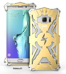Wholesale Transformer Robots - For iphone7 7+ Thor Iron Man Metal Aluminum Punk Rock Style Transformers Robot Crash Proof Bumper Cover Case For Samsung S7 Edge DHL SCA120