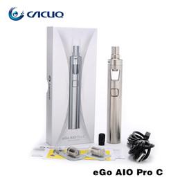 Wholesale E Cigarette Joyetech Ego C - Authentic Joyetech Ego Aio Pro c Kit e cigarette with eGo AIO Pro c Battery mod All In One E Cigarette Kit