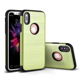 Caso duro balístico on-line-Armadura caso híbrido para iphone x para iphone 8 plus 7 plus 6 além de robusto balístico à prova de choque dual layer protetor rígido pc + tpu capa
