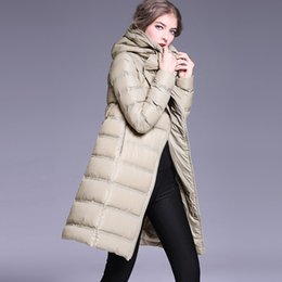 Wholesale Autumn Color Names - 2016 autumn and winter new down jacket women wear Europe and America name brand high-end fashion long jacket
