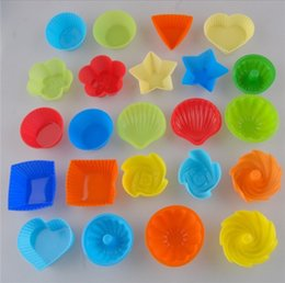 Wholesale Wholesale Muffins - 11 styles New High temperature resistant Muffin cups Cake moulds easy-to-clean Baking Moulds pudding moulds IA627