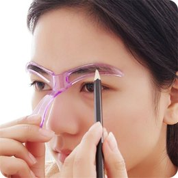 Wholesale Fashion Design Stencils - Fashion Women Eyebrow Stencils Shaping Grooming Eye Brow Make Up Template Reusable Design Beauty Tools#Orange Country#