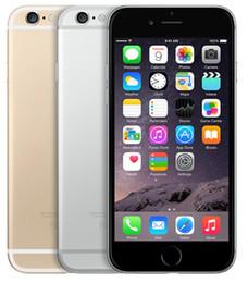 Telefones de 16gb on-line-Apple iPhone original 6 Com Fingerprint 128GB / 64GB / 16GB de 4,7 polegadas A8 IOS 12 Recuperado telefone desbloqueado móvel