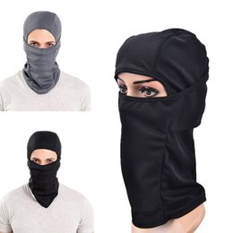 Wholesale Face Mask Winter Running - Wholesale- New Windproof Winter Cycling Cap Thermal Face Mask Balaclava Bandana Sport Ski Running Bike Bicycle Neck Hat Head Scarf Men
