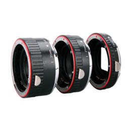 Wholesale Macro Lens Eos - Aputure Auto Focus Macro Extension Tube Ring for Canon EOS Lens Focus Macro Extension Tube Set AC-MC Free Shipping