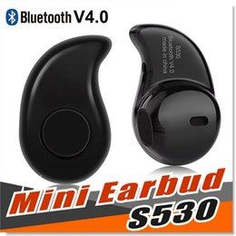 Wholesale popular wireless - For iPhone 7 Plus S530 Earbud Earphone 2017 New Popular Mini Ultra small 4.0 Stereo Bluetooth Headset For iPhone Android Smart Phone