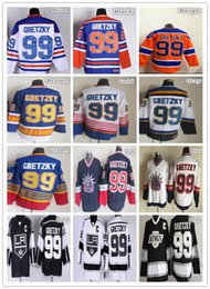 Wholesale Rangers Ccm Jersey - New York Rangers 99 Wayne Gretzky Jersey Blue White Throwback CCM Vintage Black Red Orange Edmonton St. Louis Blues Jerseys