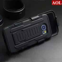 Hardclip holster online-Für Samsung Galaxy S6 G9200 S6 Rand / Plus Future Armor Impact Hybrid Hartschalenkoffer + Gürtelclip Holster Kickstand Combo Rugged Shockproof