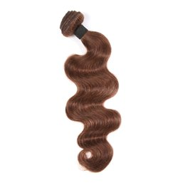 Wholesale Malaysian Queen Hair Product - 30% off Queen Products 9A Virgin Peruvian Hair Extension Unprocessed Natural Body Wave Human Hair Weave Weft 1 Piece bundle Medium Brown