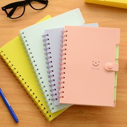 Wholesale A5 Gift Box - Wholesale- korea stationery slammed the coil notebook A5 3PCS BOX small portable notepad planner diary