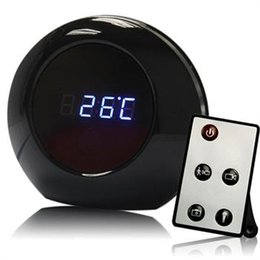 Wholesale Table Alarm Clock Spy Camera - 2016 new table clock camera Digital Table Alarm Clock Hidden camera with Motion Detection spy clock cam