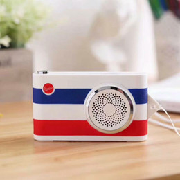 Wholesale Button Camera Mp3 - 2017 New Camera Multi-function Style Bluetooth Speaker Control Stereo Portable Speaker&Power Bank&FM Radio MP3 Player