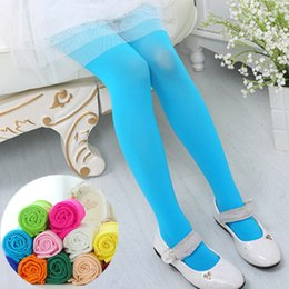 Wholesale Kids Lycra Leggings - New baby girls velvet pantyhose girls kids dance stockings children ballet tights girls velvet candy color leggings free shipping B0410