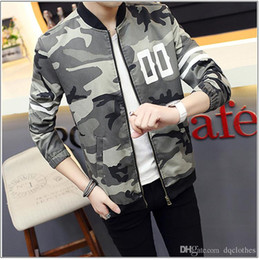 Wholesale Men Sweat Hoodie Korean - Korean Style Lovers Camouflage Baseball Cotton Jacket hoodies Autumn Winter Men Women Camo Baseball Jacket Casual Sweats